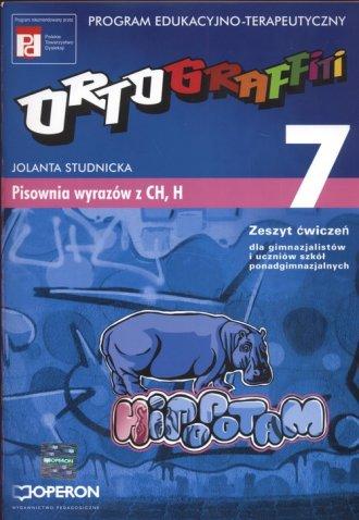 Ortograffiti. Tom 7. Pisownia wyrazów - okładka podręcznika