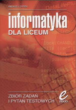 Informatyka dla liceum - okładka podręcznika