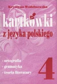 Kartkówki z języka polskiego. Klasa 4. Szkoła podstawowa - okładka podręcznika