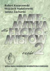 Matematyka dla ekonomistów cz. 2 - okładka książki