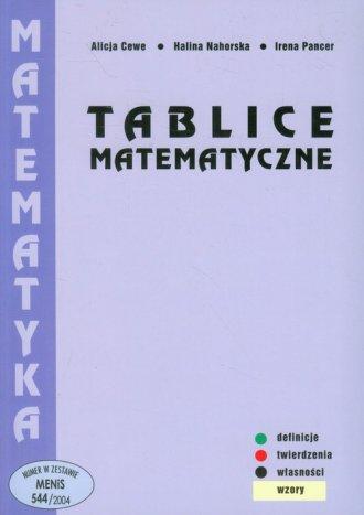 Tablice matematyczne - okładka książki