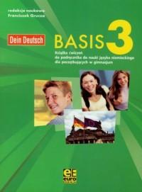 Basis 3. Gimnazjum ćwiczenia do nauki języka niemieckiego - okładka podręcznika