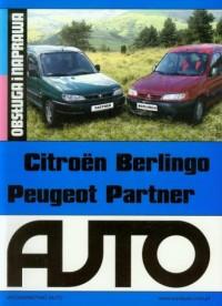 Citroen Berlingo Peugeot Partner. Obsługa i naprawa - okładka książki
