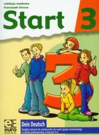 Dein Deutsch. Start 3. Klasa 4-6. Szkoła podstawowa. Książka ćwiczeń do nauki języka niemieckiego - okładka podręcznika
