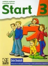 Dein Deutsch. Start 3. Klasa 4-6. Szkoła podstawowa. Podręcznik do nauki języka niemieckiego - okładka podręcznika