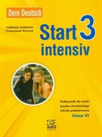 Dein Deutsch. Start intensiv 3. Klasa 6. Szkoła podstawowa. Podręcznik do nauki języka niemieckiego - okładka podręcznika