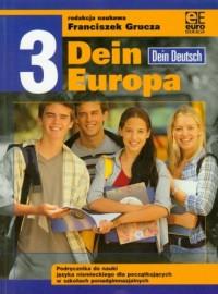 Dein Europa 3. Szkoła ponadgimnazjalna. Podręcznik do nauki języka niemieckiego - okładka podręcznika