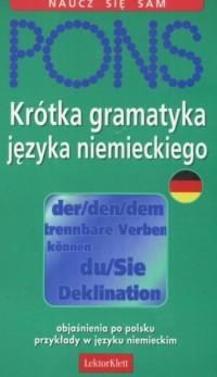 Krótka gramatyka języka niemieckiego. Naucz się sam - okładka podręcznika