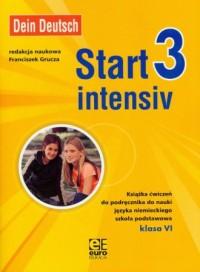 Start intensiv 3. Klasa 6. Szkoła podstawowa. Ćwiczenia do nauki języka niemieckiego - okładka podręcznika