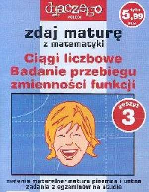 Zdaj maturę. Matematyka nr 3 - okładka książki