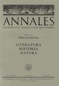 Annales UMCS, sec. FF (Philologiae), vol. XX/XXI - okładka książki