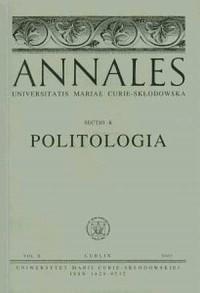 Annales UMCS, sec. K (Politologia), vol. X - okładka książki