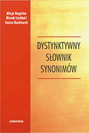 Dystynktywny słownik synonimów - okładka książki