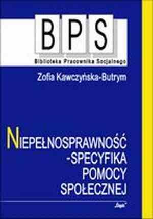 Niepełnosprawność - specyfika pomocy - okładka książki