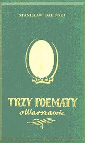 Trzy poematy o Warszawie - okładka książki