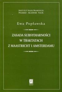 Zasada subsydiarności w traktatach - okładka książki
