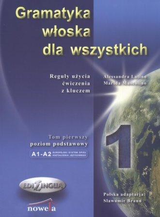 Gramatyka włoska dla wszystkich - okładka podręcznika