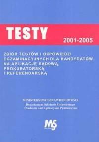 Testy egzaminacyjne dla kandytdatów na aplikację sądową - okładka książki
