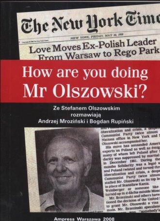 How are you doing, Mr. Olszowski - okładka książki