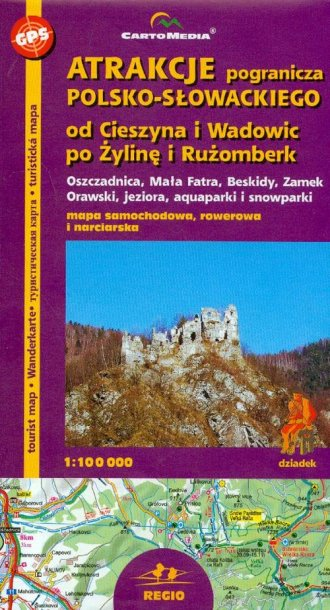 Atrakcje pogranicza polsko-słowackiego. - zdjęcie reprintu, mapy