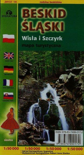 Beskid Śląski. Wisła i Szczyrk - zdjęcie reprintu, mapy