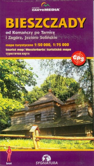 Bieszczady. Od Komańczy po Tarnicę. - zdjęcie reprintu, mapy