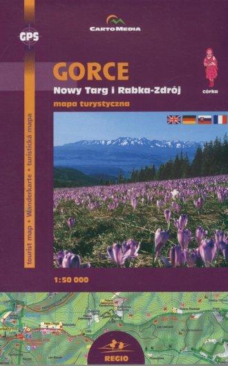 Gorce, Nowy Targ i Rabka-Zdrój - zdjęcie reprintu, mapy