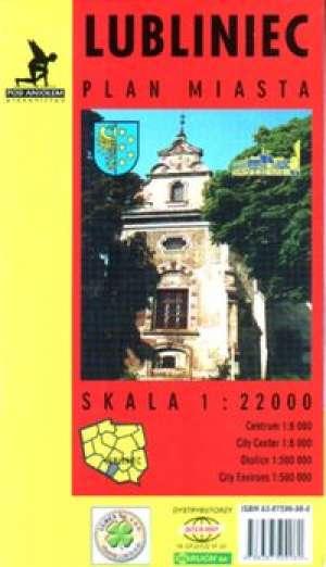 Lubliniec - plan miasta - zdjęcie reprintu, mapy
