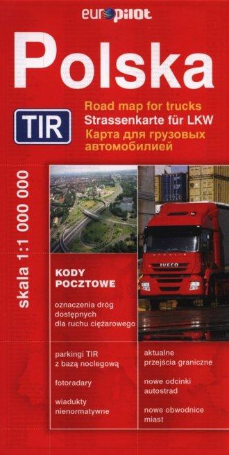 Polska (mapa drogowa - TIR) - zdjęcie reprintu, mapy