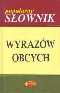 Popularny słownik wyrazów obcych - okładka książki