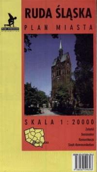 Ruda Śląska (plan miasta) - zdjęcie reprintu, mapy