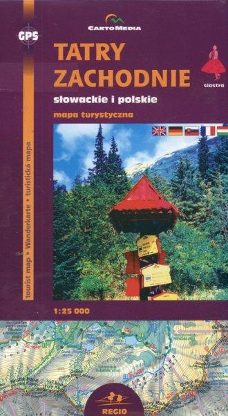 Tatry Zachodnie słowackie i polskie. - zdjęcie reprintu, mapy