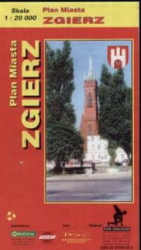 Zgierz-mapa. Plan miasta - zdjęcie reprintu, mapy