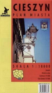 Cieszyn (plan miasta) - zdjęcie reprintu, mapy