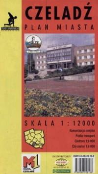 Czeladź (plan miasta) - zdjęcie reprintu, mapy