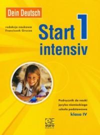 Dein Deutsch. Start intensiv 1. Klasa 4. Szkoła podstawowa. Podręcznik do nauki języka niemieckiego - okładka podręcznika