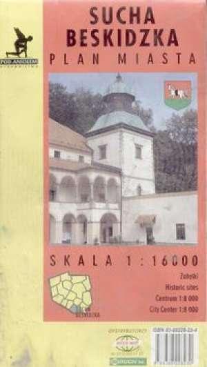 Sucha Beskidzka - plan miasta - zdjęcie reprintu, mapy
