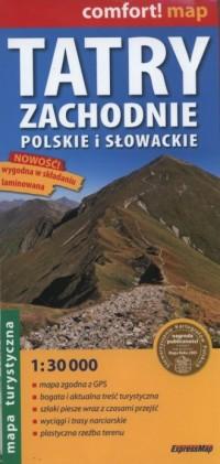Tatry Zachodnie Słowackie i Polskie - zdjęcie reprintu, mapy