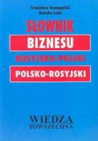 Słownik biznesu rosyjsko-polski, - okładka książki