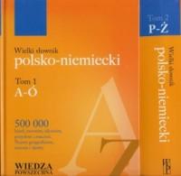 Wielki słownik polsko-niemiecki. - okładka książki