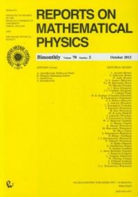 Reports on Mathematical Physics 70/2 (wersja ang.) - okładka książki