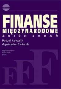 Finanse międzynarodowe zbiór zadań - okładka książki