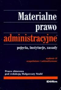 Materialne prawo administracyjne - okładka książki