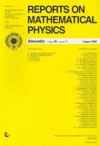 Reports on Mathematical Physics 56/1 wer.kraj. - okładka książki