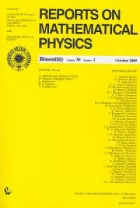 Reports on Mathematical Physics 56/2 wer.kraj. - okładka książki