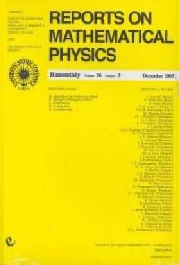Reports on Mathematical Physics 56/3 - okładka książki