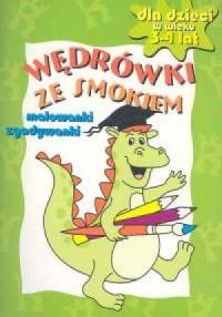 Wędrówki ze smokiem Malowanki 3-4 lat - okładka książki