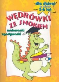 Wędrówki ze smokiem Malowanki 5-6 lat - okładka książki