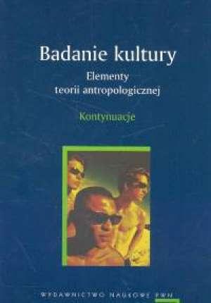 Badanie kultury. Elementy teorii - okładka książki