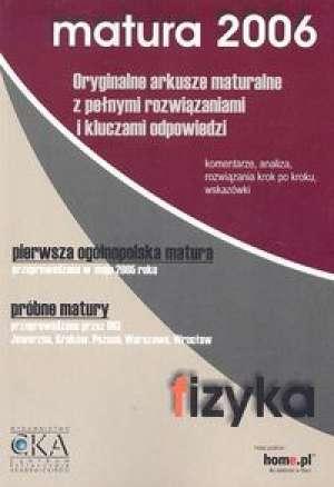 Fizyka z astronomią. Matura 2006. - okładka podręcznika